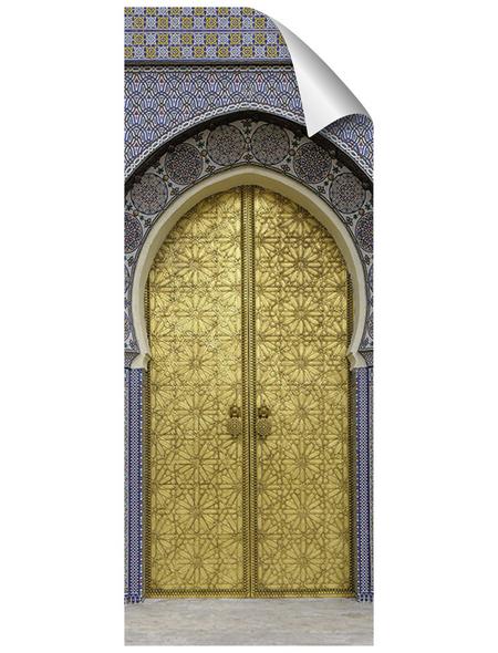 mySPOTTI Duschrückwand-Panel, fresh, Tür | Metalloptik, 255x100 cm