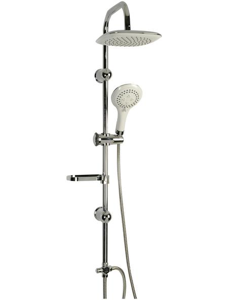 SCHÜTTE Duschsäule »Duschtraum«, Höhe: 110 cm, weiß/chromfarben