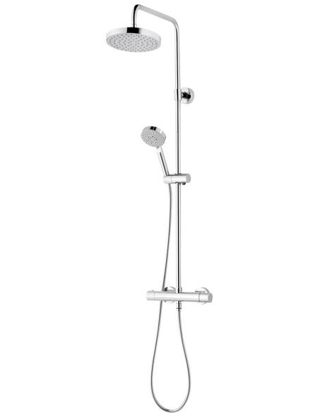 SCHULTE Duschsystem »DuschMaster Rain III Modern plus«, Höhe: 110,4 cm, chromfarben