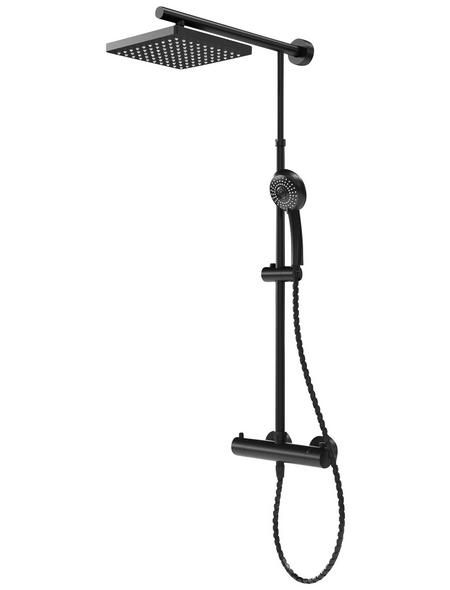 SCHULTE Duschsystem »DuschMaster Rain«, schwarz, inkl. Handbrause