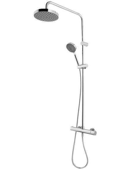 BREUER Duschsystem, Höhe: 110,5 cm, chromfarben