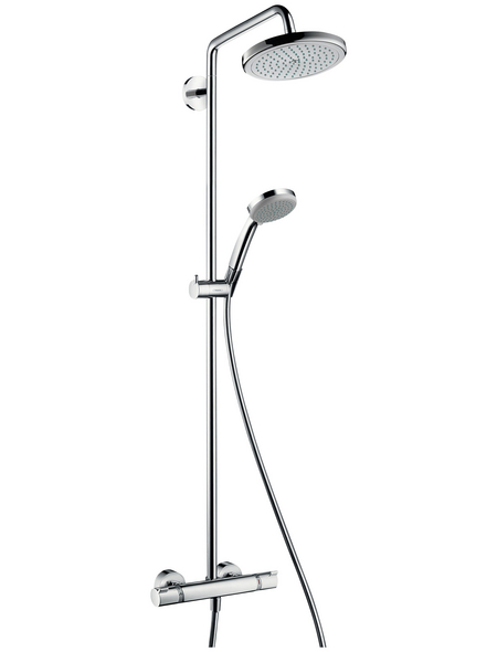 HANSGROHE Duschsystem, Höhe: 12,47 cm, chromfarben