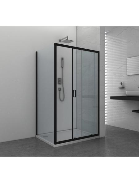 SANOTECHNIK Duschtrennwand »Elite Black«, B x H: 88 x 195 cm, Sicherheitsglas