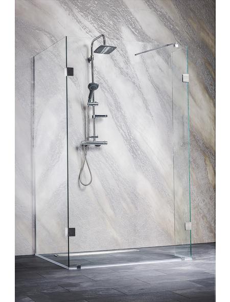 SANOTECHNIK Duschtrennwand »Wide 1«, B x H: 128 x 195 cm, Sicherheitsglas