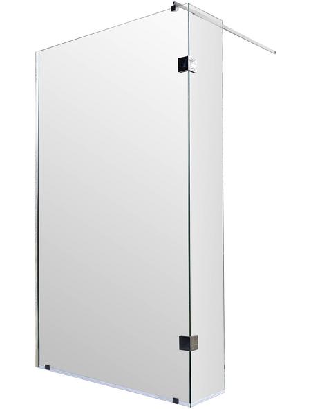 SANOTECHNIK Duschtrennwand »Wide 2«, B x H: 98 x 195 cm, Sicherheitsglas