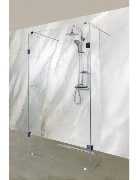 SANOTECHNIK Duschtrennwand »Wide«, B x H: 128 x 195 cm, Sicherheitsglas
