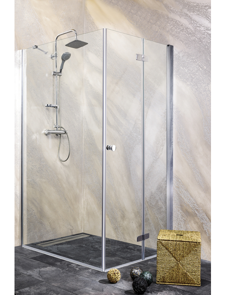 SANOTECHNIK Duschtrennwand »Young«, B x H: 95 x 195 cm, Sicherheitsglas