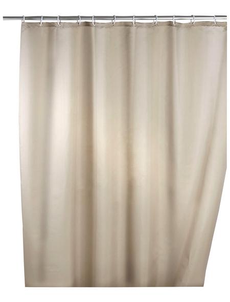 WENKO Duschvorhang »Anti-Schimmel«, BxH: 180 x 200 cm, Uni, beige