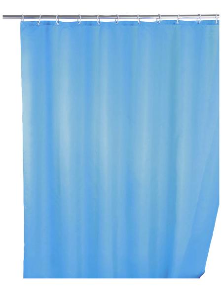 WENKO Duschvorhang »Anti-Schimmel«, BxH: 180 x 200 cm, Uni, hellblau