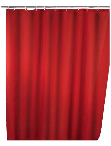 WENKO Duschvorhang »Anti-Schimmel«, BxH: 180 x 200 cm, Uni, rot