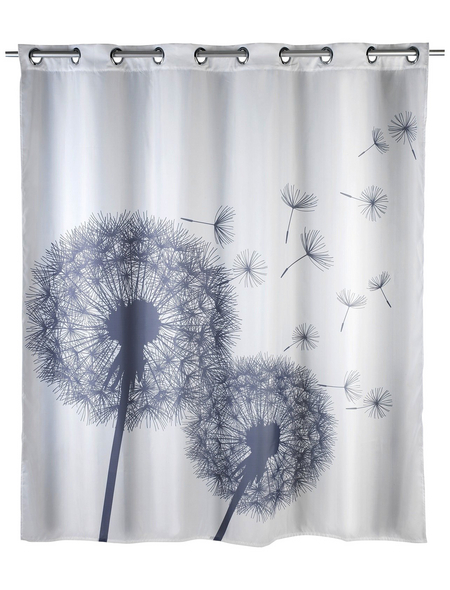 WENKO Duschvorhang »Astera«, BxH: 200 x 180 cm, Pusteblume, weiß/anthrazit