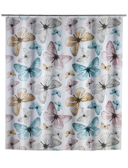 WENKO Duschvorhang »Butterfly«, BxH: 180 x 200 cm, Schmetterling, mehrfarbig