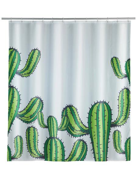 WENKO Duschvorhang »Cactus«, BxH: 180 x 200 cm, Kakteen, weiß/grün