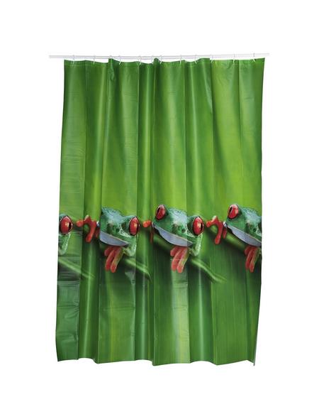 KLEINE WOLKE Duschvorhang »Charlie«, BxH: 180 x 200 cm, Tiere, grün