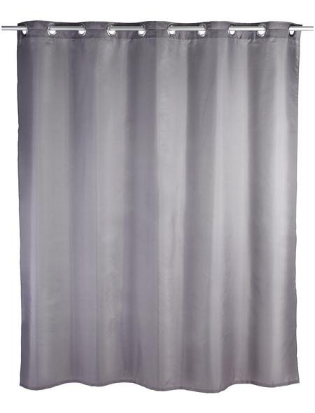 WENKO Duschvorhang »Comfort Flex«, BxH: 180 x 200 cm, Uni, grau