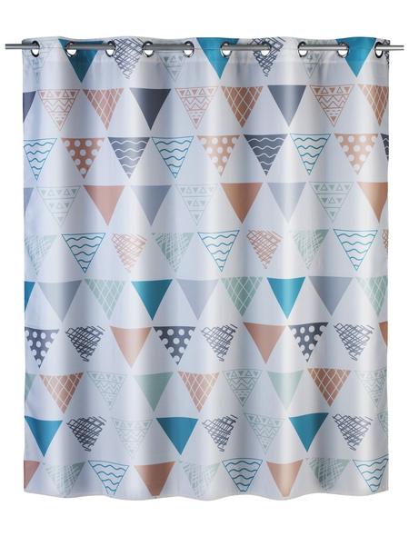WENKO Duschvorhang »Ethno Flex«, BxH: 180 x 200 cm, Dreiecksmuster, mehrfarbig