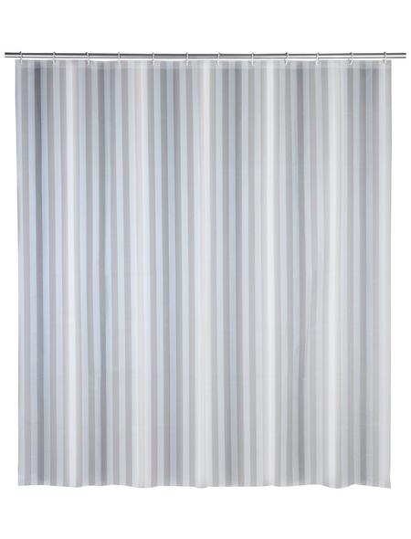 WENKO Duschvorhang »Frozen«, BxH: 180 x 200 cm, Uni, weiß
