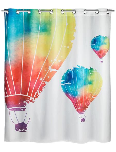 WENKO Duschvorhang »In the Air Flex«, BxH: 180 x 200 cm, Heißluftballon, mehrfarbig