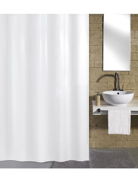 KLEINE WOLKE Duschvorhang »Kito«, BxH: 240 x 180 cm, Uni, weiß