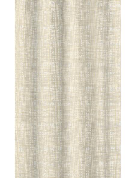 KLEINE WOLKE Duschvorhang »Linen«, BxH: 180 x 200 cm, Streifen, natur