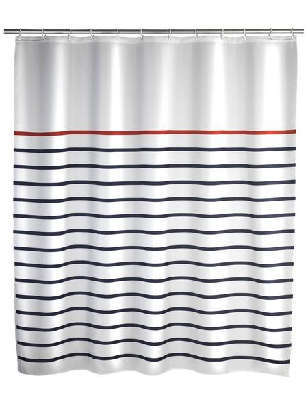 WENKO Duschvorhang »Marine«, BxH: 180 x 200 cm, Streifen, mehrfarbig