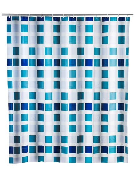 WENKO Duschvorhang »Mosaik«, BxH: 180 x 200 cm, Mosaik, blau