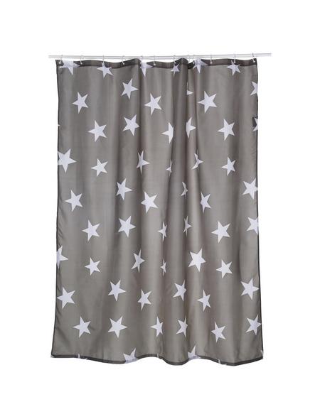 KLEINE WOLKE Duschvorhang »Nova«, BxH: 180 x 200 cm, Sterne, grau