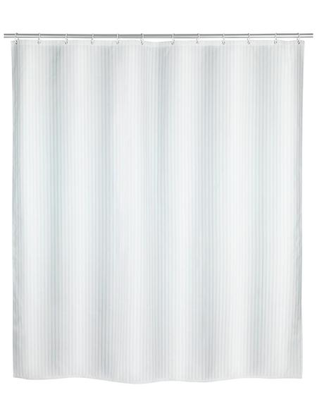 WENKO Duschvorhang »Palais «, BxH: 180 x 200 cm, Uni, weiß