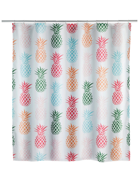 WENKO Duschvorhang »Pineapple«, BxH: 180 x 200 cm, Ananas, mehrfarbig