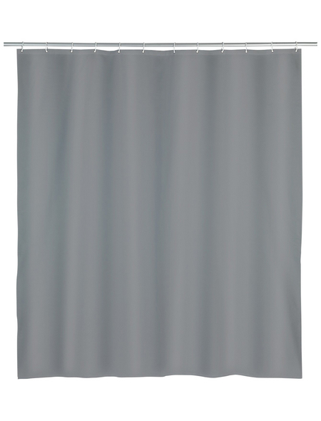 WENKO Duschvorhang »Punto«, BxH: 180 x 200 cm, Uni, grau