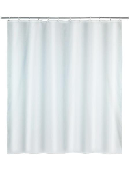 WENKO Duschvorhang »Punto«, BxH: 180 x 200 cm, Uni, weiß