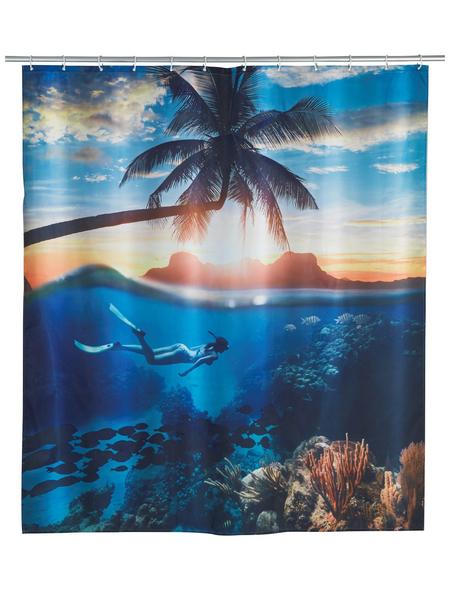 WENKO Duschvorhang »Underwater«, BxH: 180 x 200 cm, Unterwasserwelt, mehrfarbig