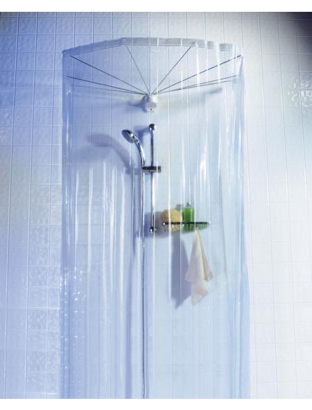 KLEINE WOLKE Duschvorhangspinne »Spider«, BxH: 200 x 170 cm, Uni, transparent