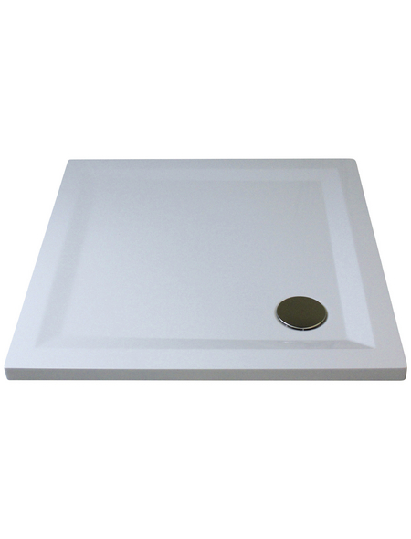 BREUER Duschwanne »Flat Line Design«, BxT: 90  x 90 cm