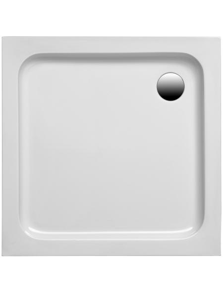 OTTOFOND Duschwanne »Samos«, BxT: 80 x 75 cm, weiß