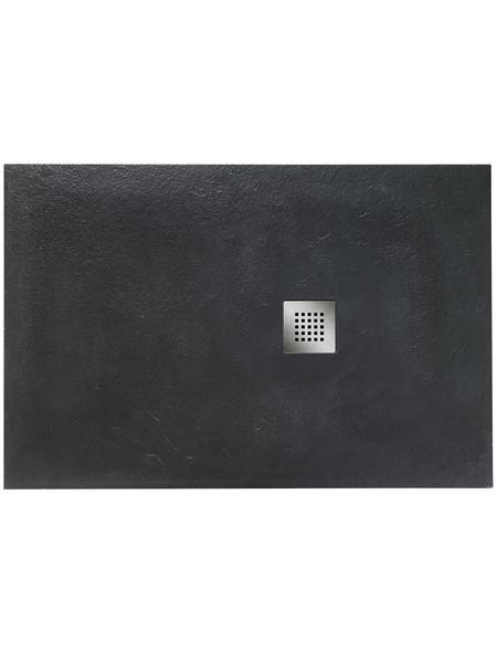 OTTOFOND Duschwanne »Strato«, BxT: 80 x 100 cm, anthrazit