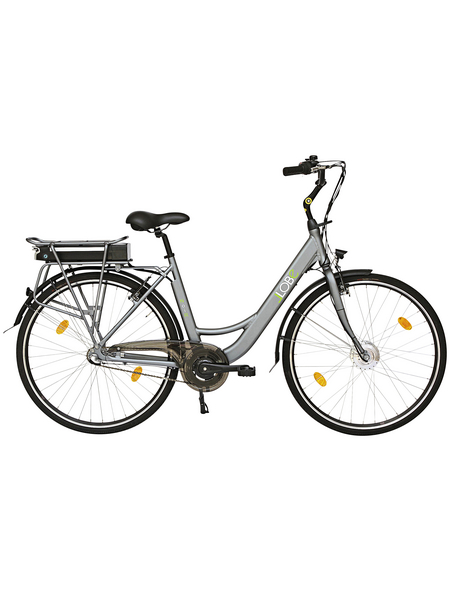 "LLOBE E-Bike City Damen Grau|schwarz 28 "", 3-gang, 10.4ah"