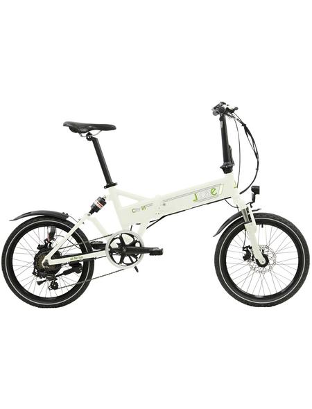 """LLOBE E-Bike »City III«, Weiß 20 """", 7-gang, 10.4ah"""