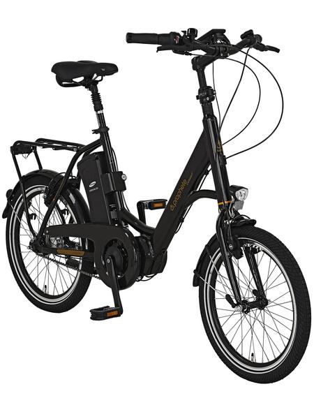 "PROPHETE E-Bike City Schwarz Glänzend 20 "", 7-gang,"