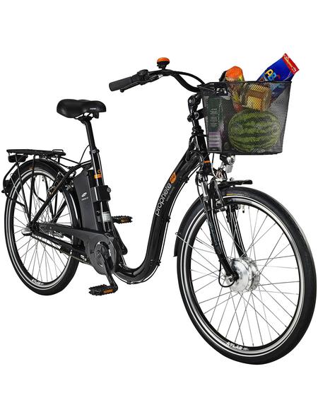 "PROPHETE E-Bike City Schwarz schwarz_glaenzend 26 "", 3-gang,"