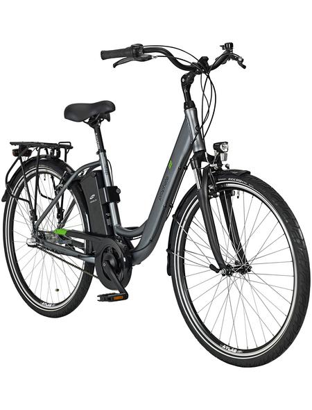 "PROPHETE E-Bike City Silberfarben schwarz_glaenzend 28 "", 3-gang,"