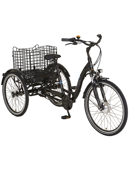 "PROPHETE E-Bike Dreirad »CARGO 3R«, Schwarz 26 "", 3-gang, 13.7ah"