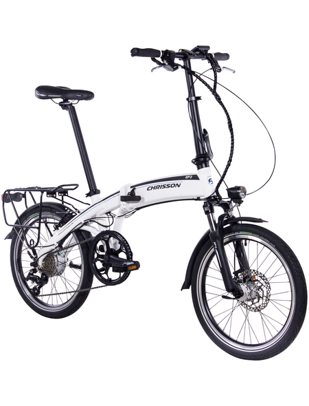 "CHRISSON E-Bike Klapprad, 20 "", 9-Gang, 8.7 Ah"