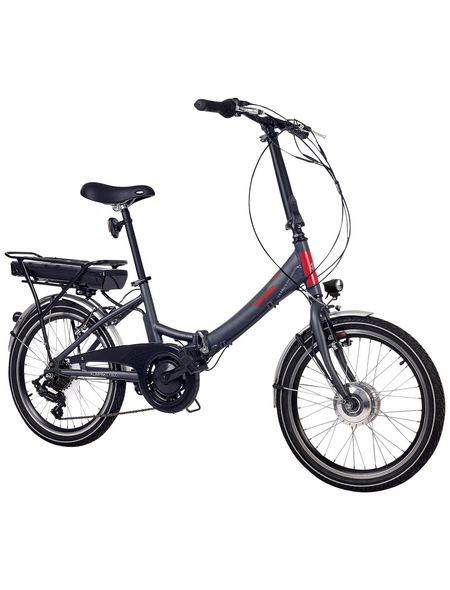 "TELEFUNKEN E-Bike »Kompakt F800«, Anthrazit 20 "", 7-gang, 10.4ah"