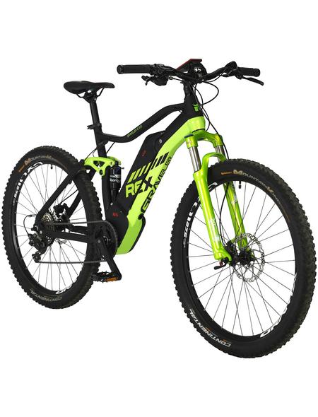 "REX E-Bike Mountainbike Gelb|mattschwarz 27,5 "", 10-gang,"