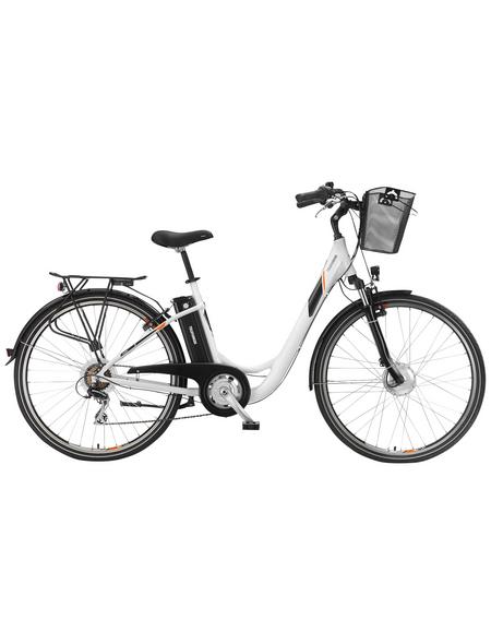 "TELEFUNKEN E-Bike »RC736 Multitalent«, Weiß 28 "", 7-gang, 10.4ah"