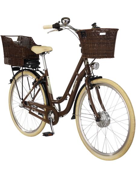 """FISCHER FAHRRAEDER E-Bike »Retro«, Nussbraun elfenbeinfarben 28 """", 3-gang, 8.8ah"""