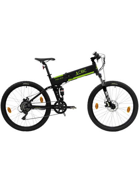 "LLOBE E-Bike Schwarz 26 "", 9-gang, 10.4ah"