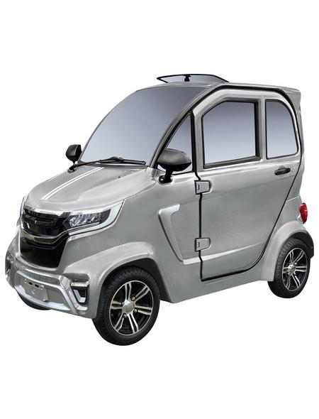 DIDI THURAU E-Kabinenfahrzeug »eLazzy Premium«, max. 45 km/h, Reichweite: 70 km, silberfarben