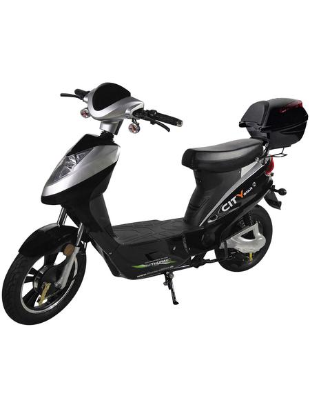 E-Roller »City-Star, 20 km/h«, 20 km/h (max.), schwarz - silberfarben